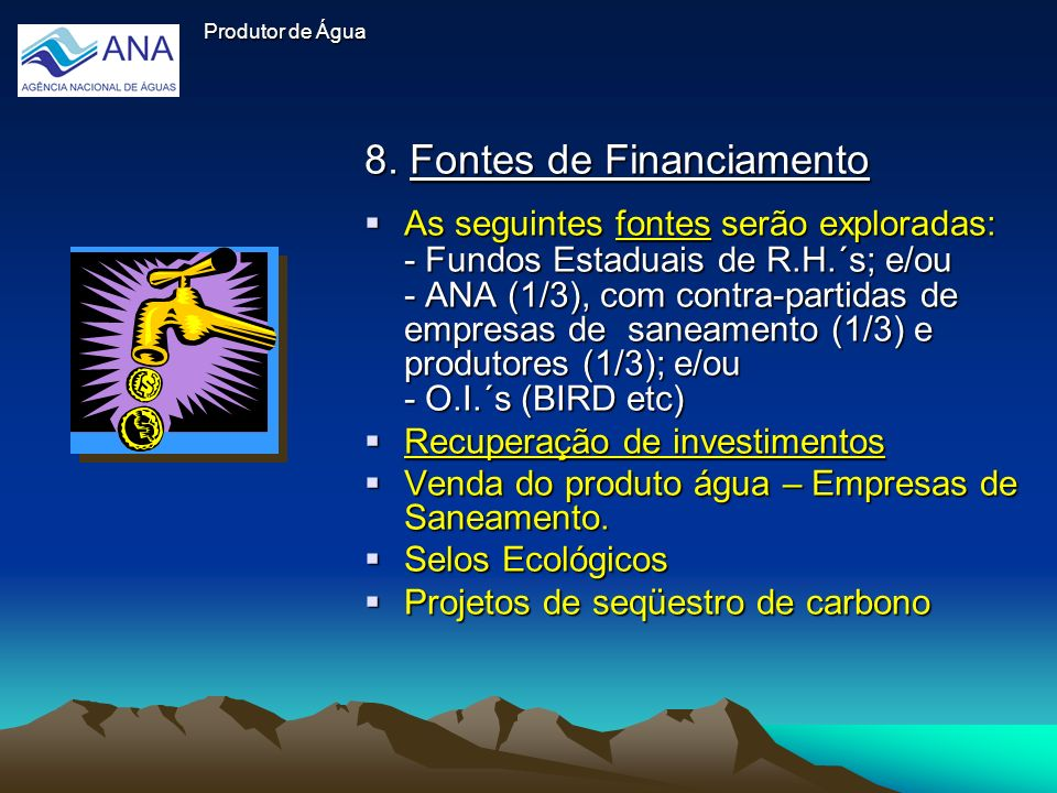 8. Fontes de Financiamento