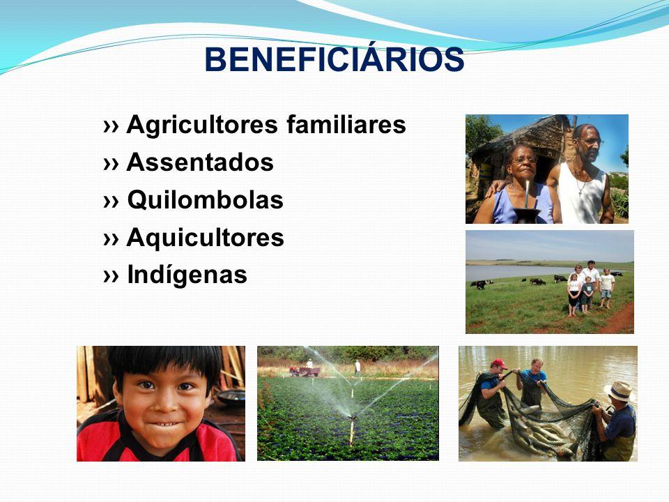 BENEFICIÁRIOS ›› Agricultores familiares ›› Assentados ›› Quilombolas
