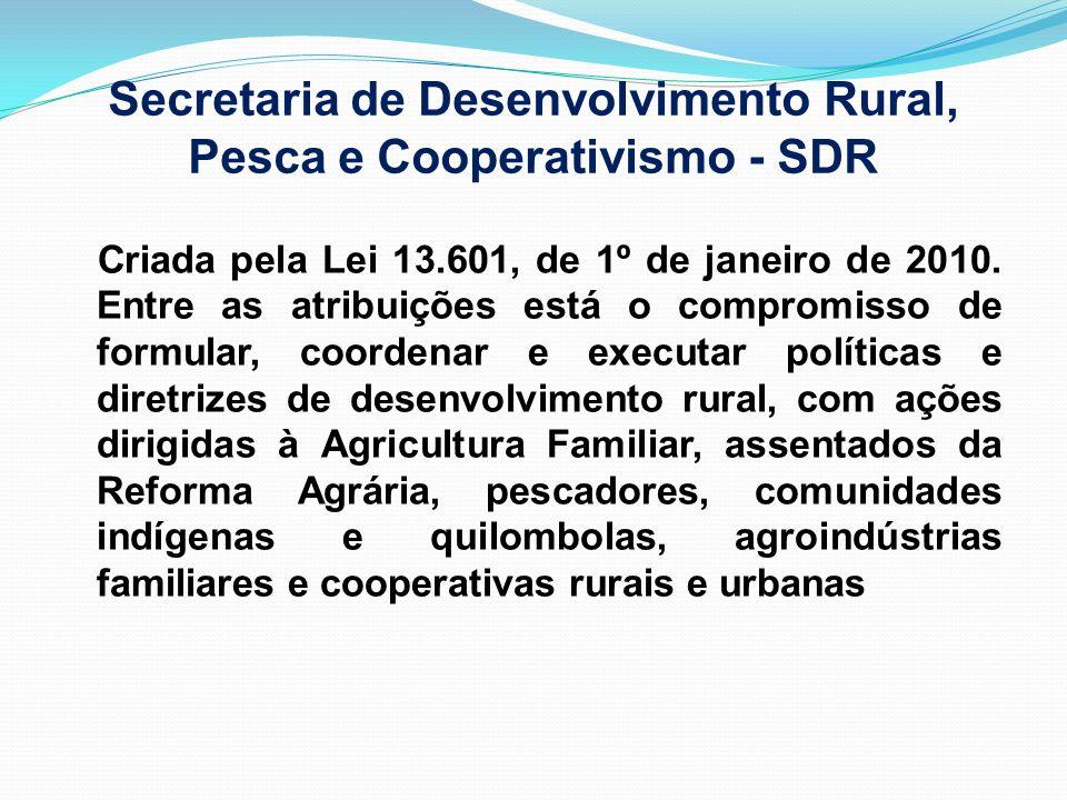 Secretaria de Desenvolvimento Rural, Pesca e Cooperativismo - SDR
