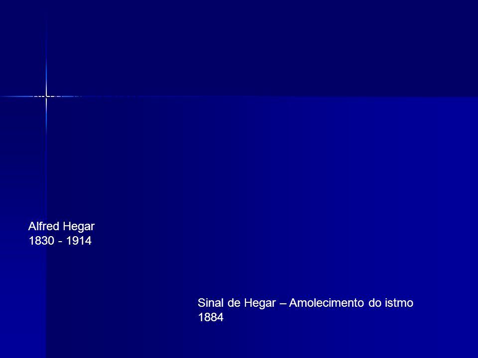 SINAL DE HEGAR Alfred Hegar 1830 - 1914 Sinal de Hegar – Amolecimento do istmo 1884