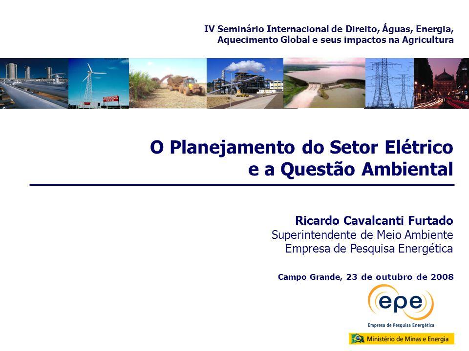 O Planejamento do Setor Elétrico e a Questão Ambiental