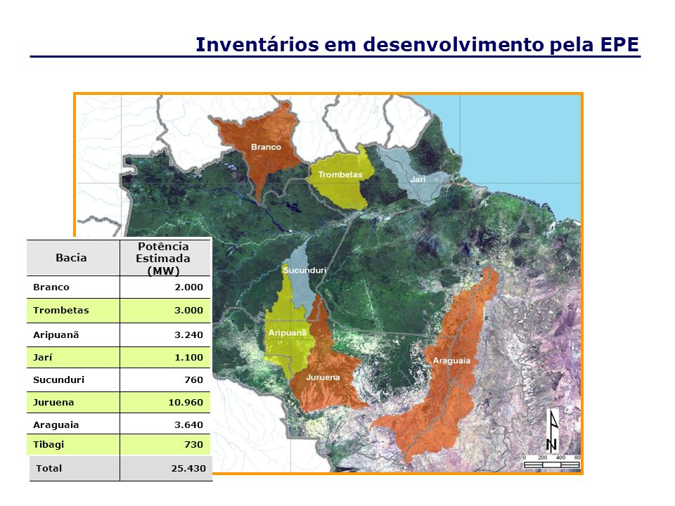 Inventários em desenvolvimento pela EPE