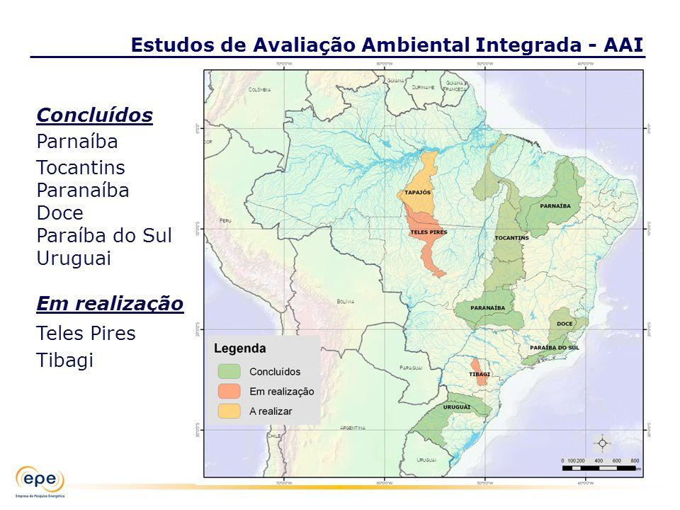 Estudos de Avaliação Ambiental Integrada - AAI