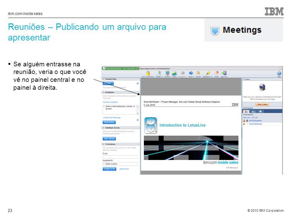 Reuniões – Publicando um arquivo para apresentar