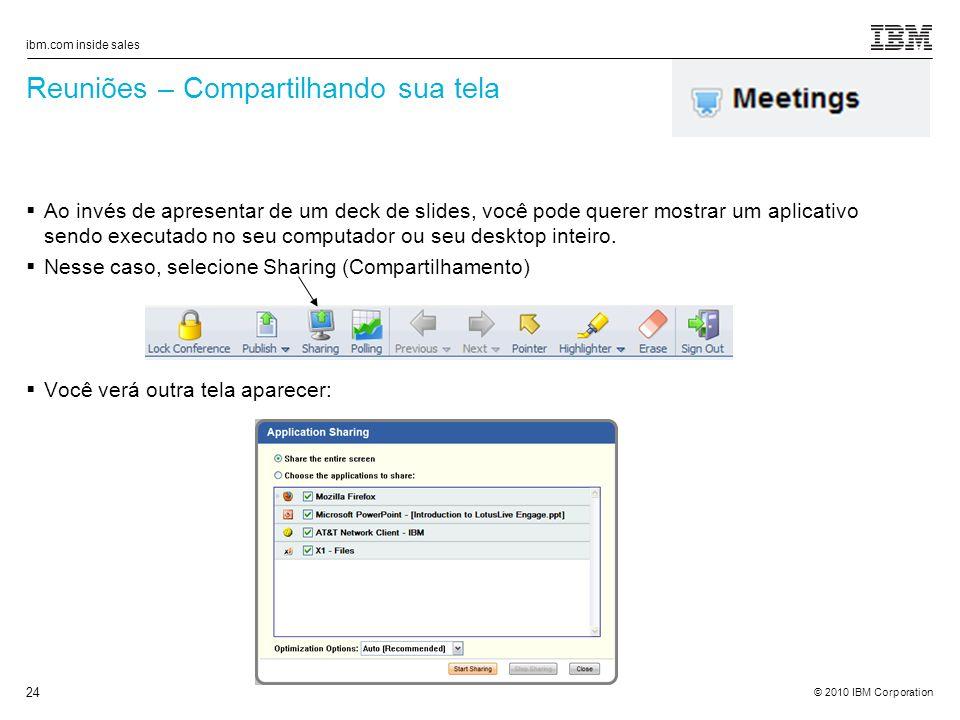 Reuniões – Compartilhando sua tela
