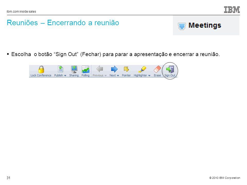 Reuniões – Encerrando a reunião