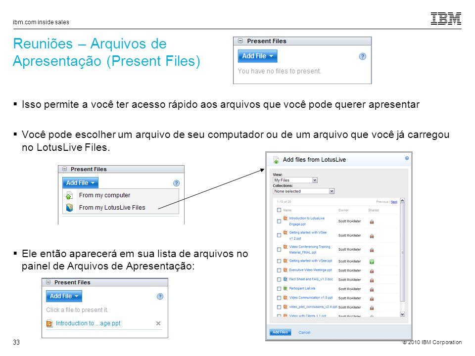 Reuniões – Arquivos de Apresentação (Present Files)