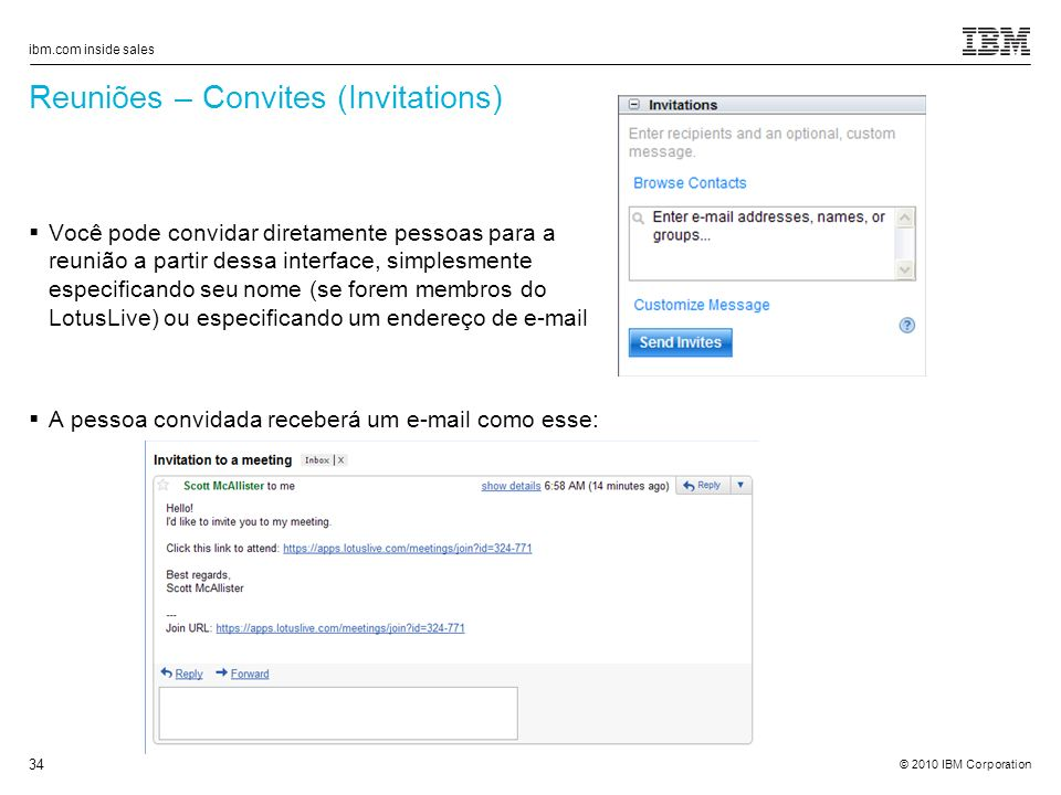 Reuniões – Convites (Invitations)