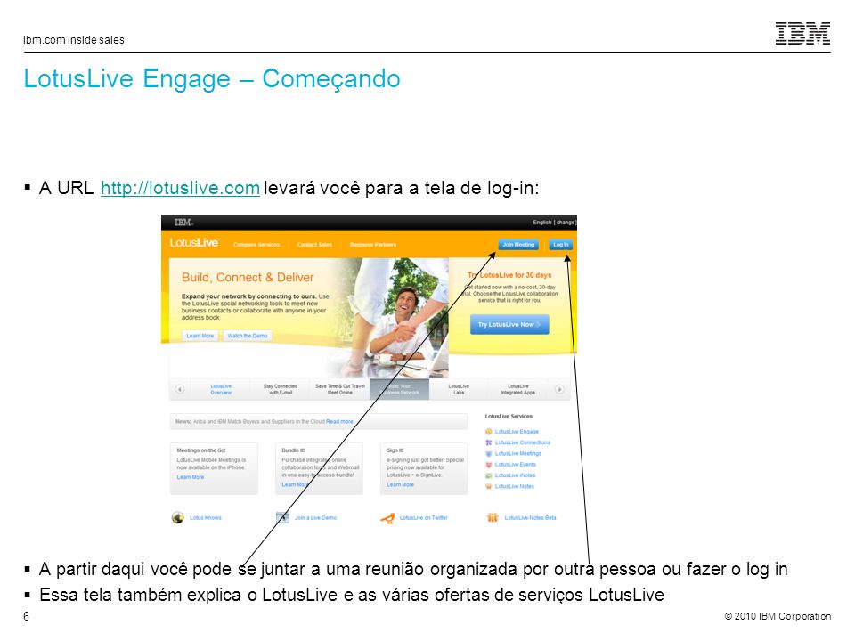 LotusLive Engage – Começando