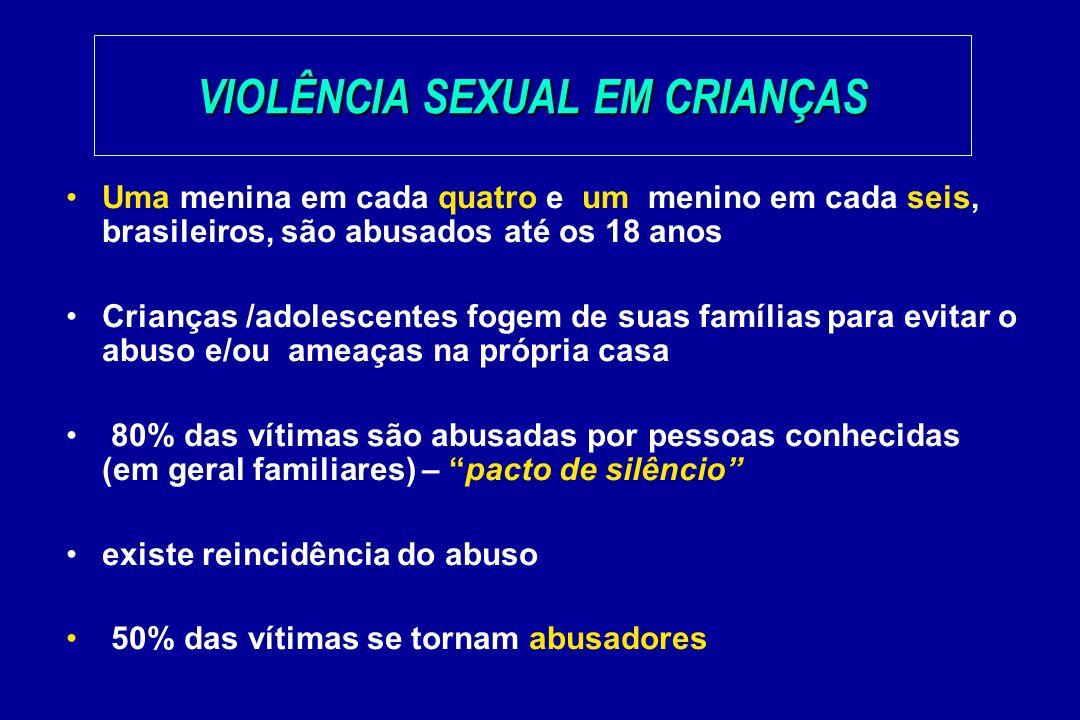 VIOLÊNCIA SEXUAL EM CRIANÇAS