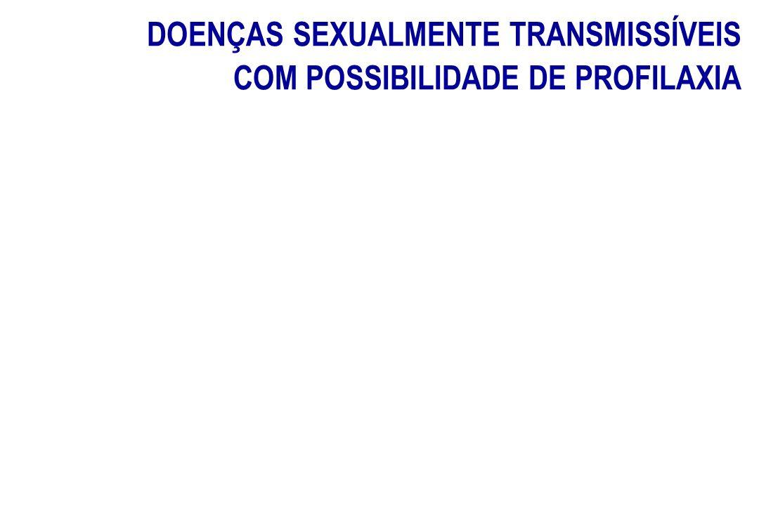 DOENÇAS SEXUALMENTE TRANSMISSÍVEIS COM POSSIBILIDADE DE PROFILAXIA