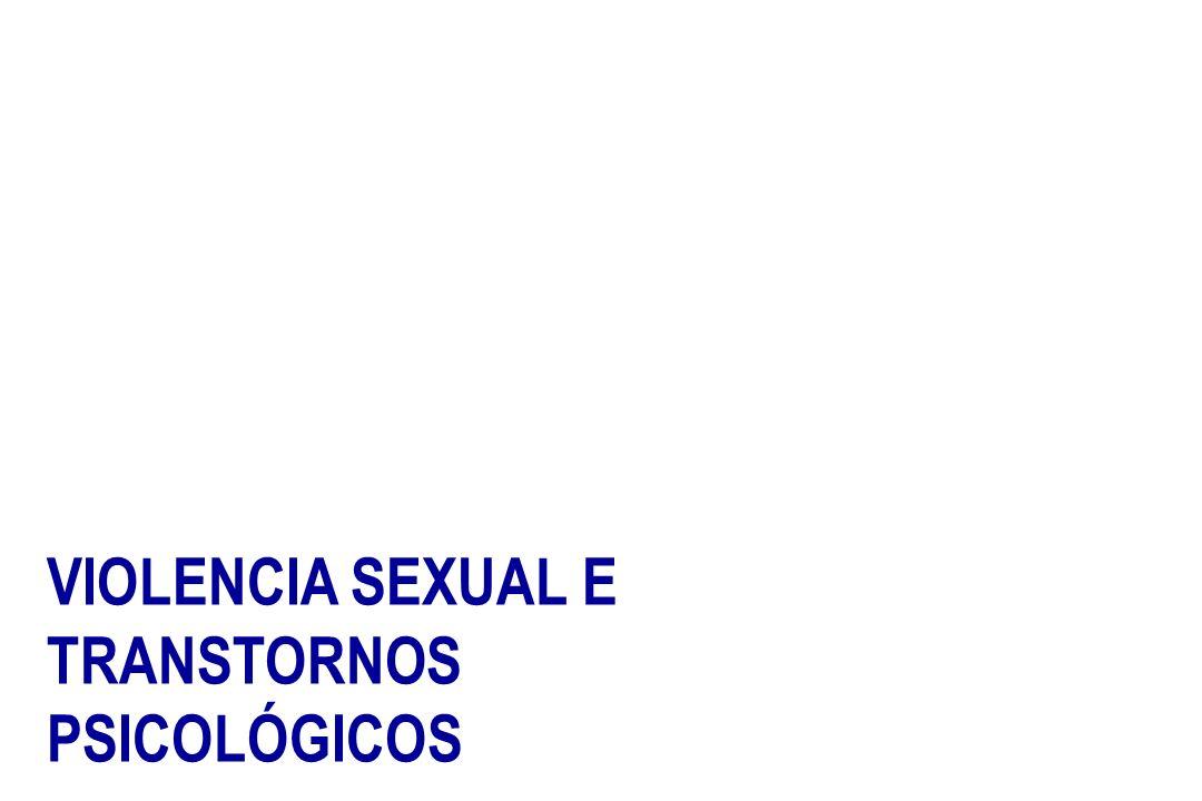 VIOLENCIA SEXUAL E TRANSTORNOS PSICOLÓGICOS