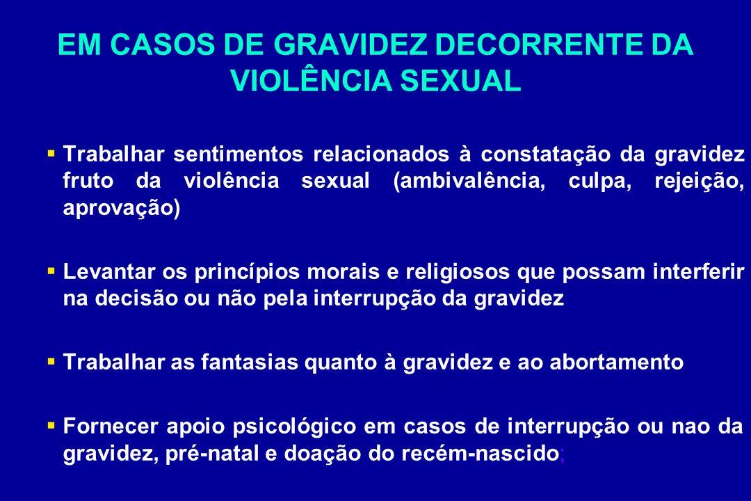 EM CASOS DE GRAVIDEZ DECORRENTE DA VIOLÊNCIA SEXUAL