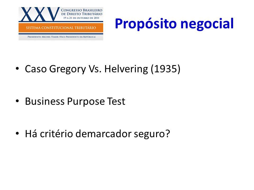 Propósito negocial Caso Gregory Vs. Helvering (1935)