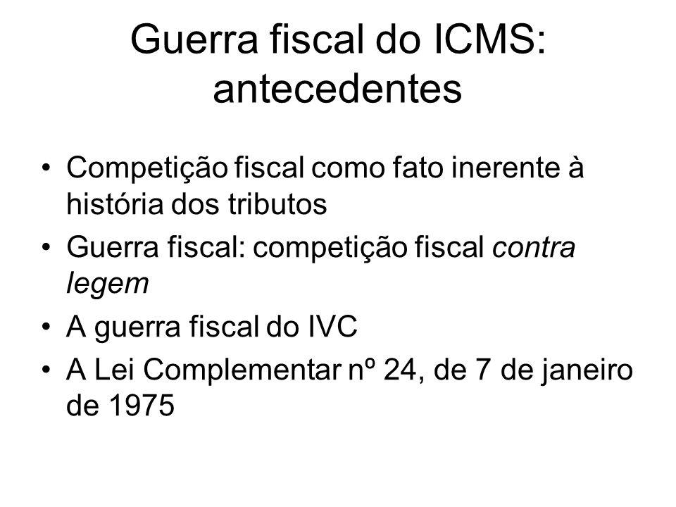 Guerra fiscal do ICMS: antecedentes