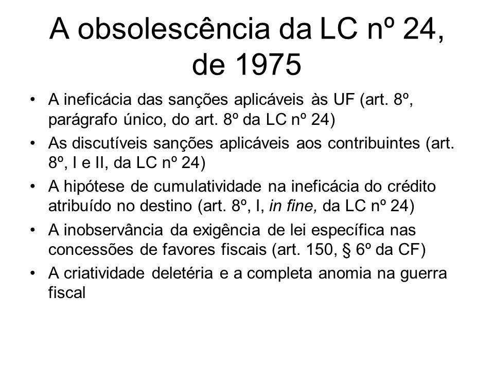 A obsolescência da LC nº 24, de 1975