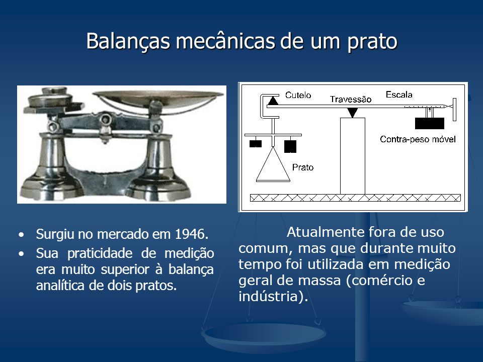 Balanças mecânicas de um prato
