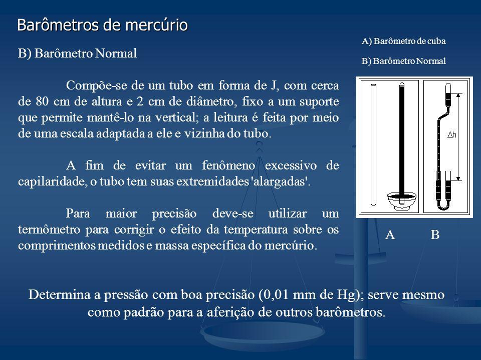 Barômetros de mercúrio