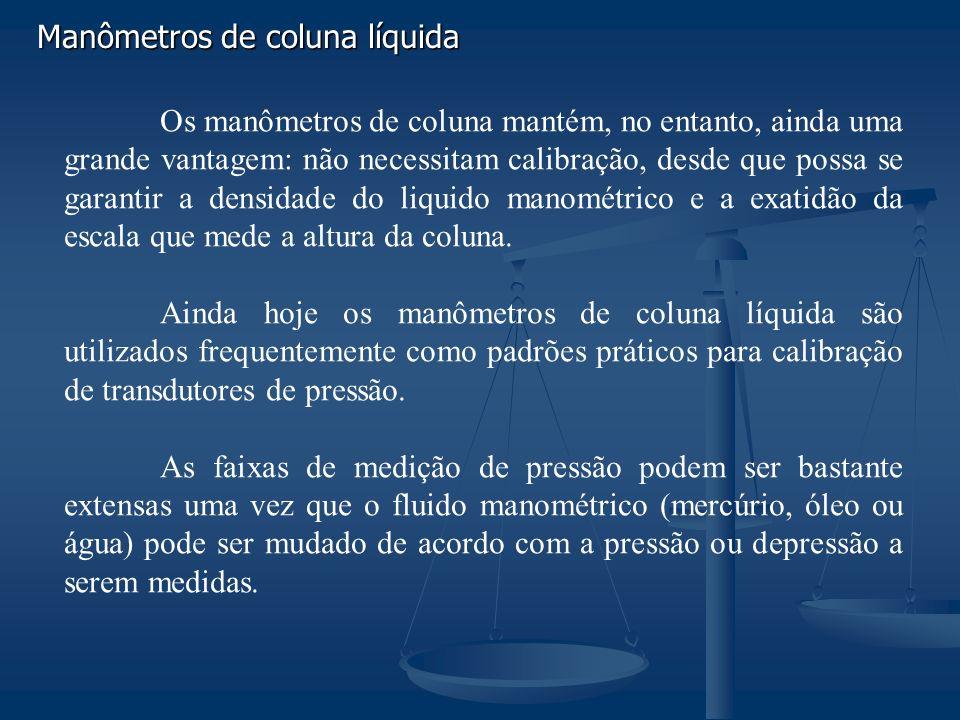 Manômetros de coluna líquida