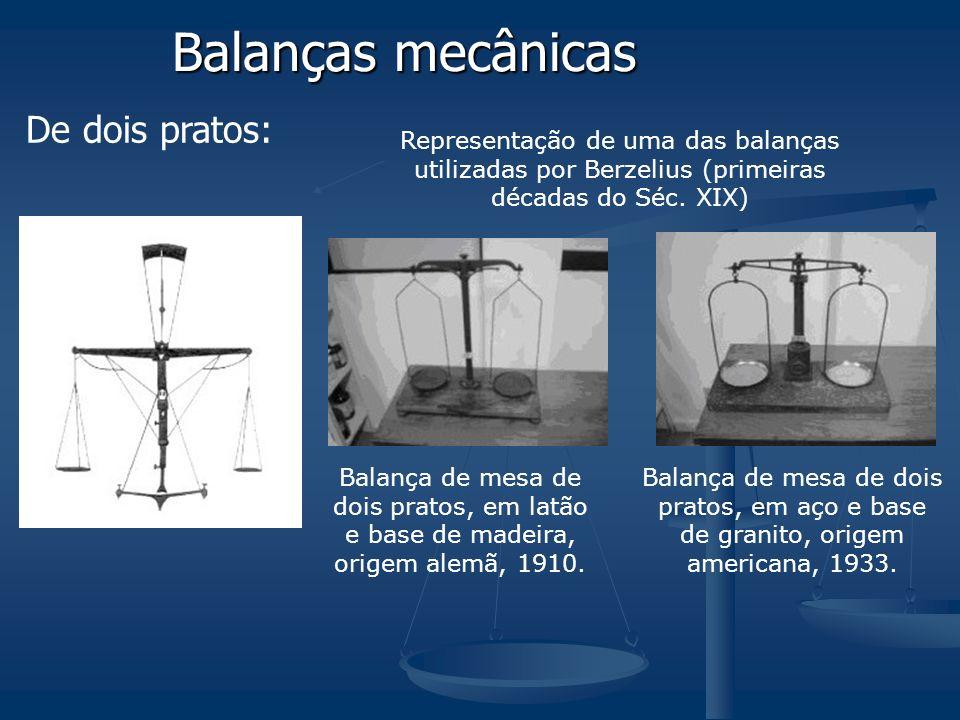 Balanças mecânicas De dois pratos: