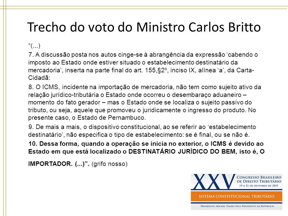 Trecho do voto do Ministro Carlos Britto