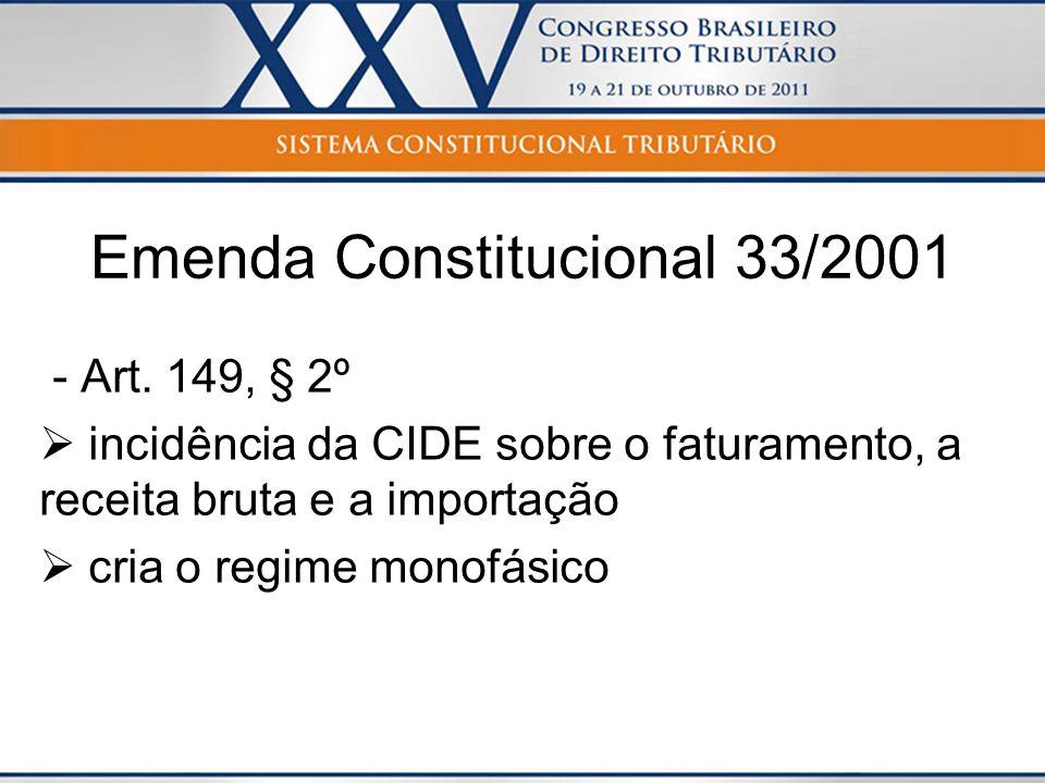 Emenda Constitucional 33/2001