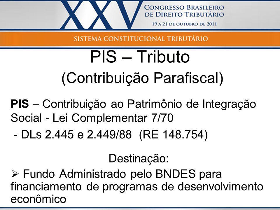 PIS – Tributo (Contribuição Parafiscal)