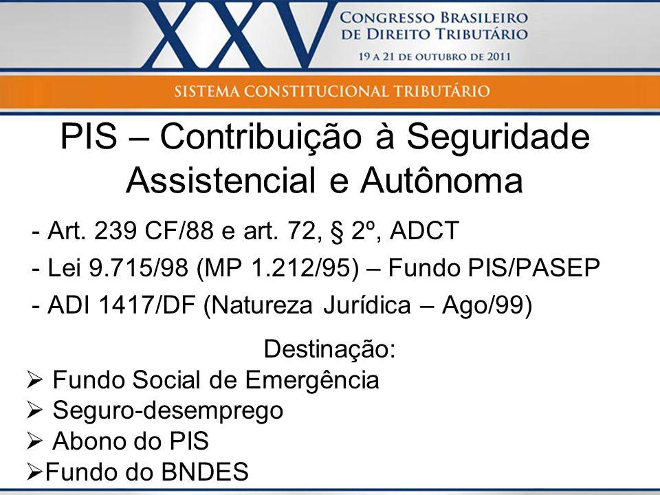 PIS – Contribuição à Seguridade Assistencial e Autônoma