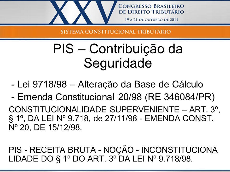 PIS – Contribuição da Seguridade