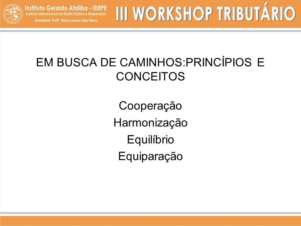 EM BUSCA DE CAMINHOS:PRINCÍPIOS E CONCEITOS