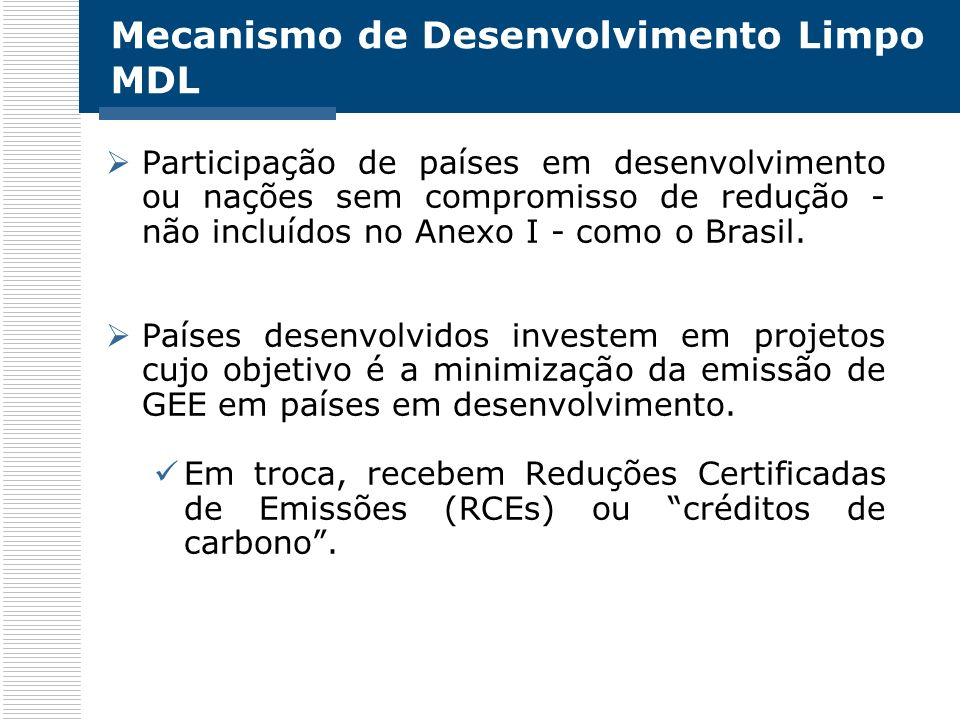 Mecanismo de Desenvolvimento Limpo MDL