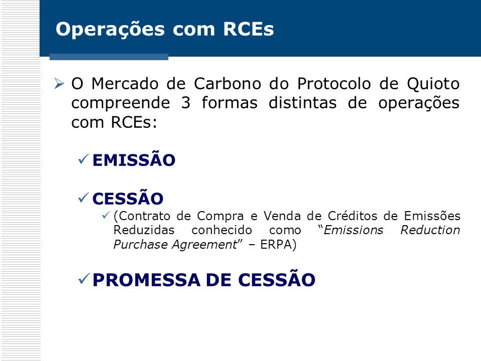 Operações com RCEs PROMESSA DE CESSÃO