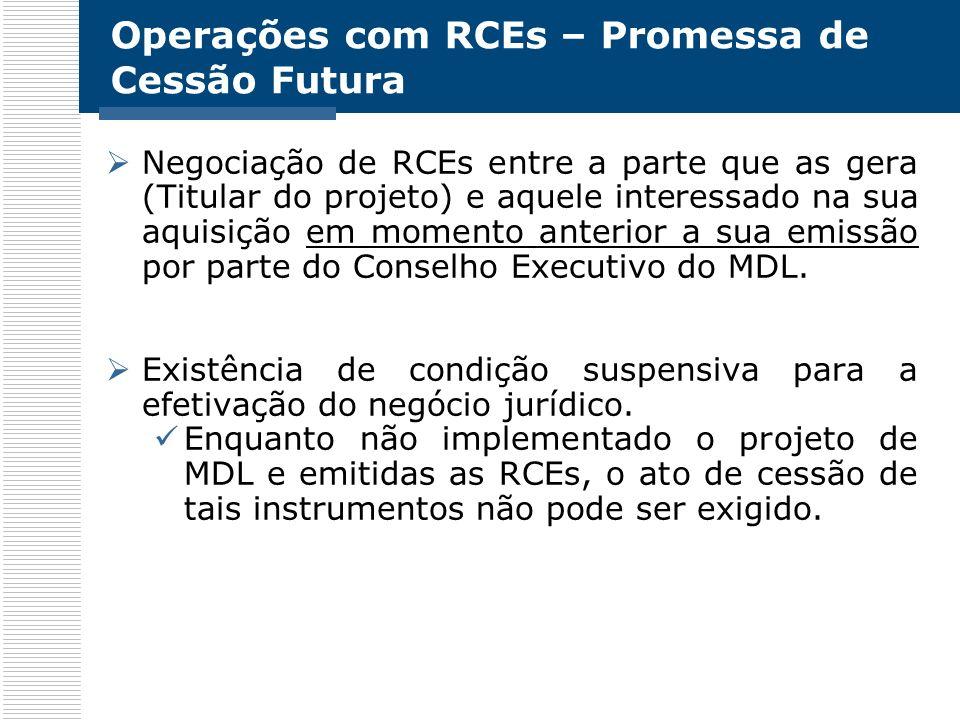 Operações com RCEs – Promessa de Cessão Futura