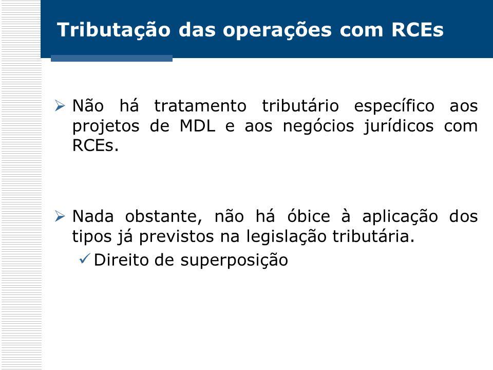 Tributação das operações com RCEs