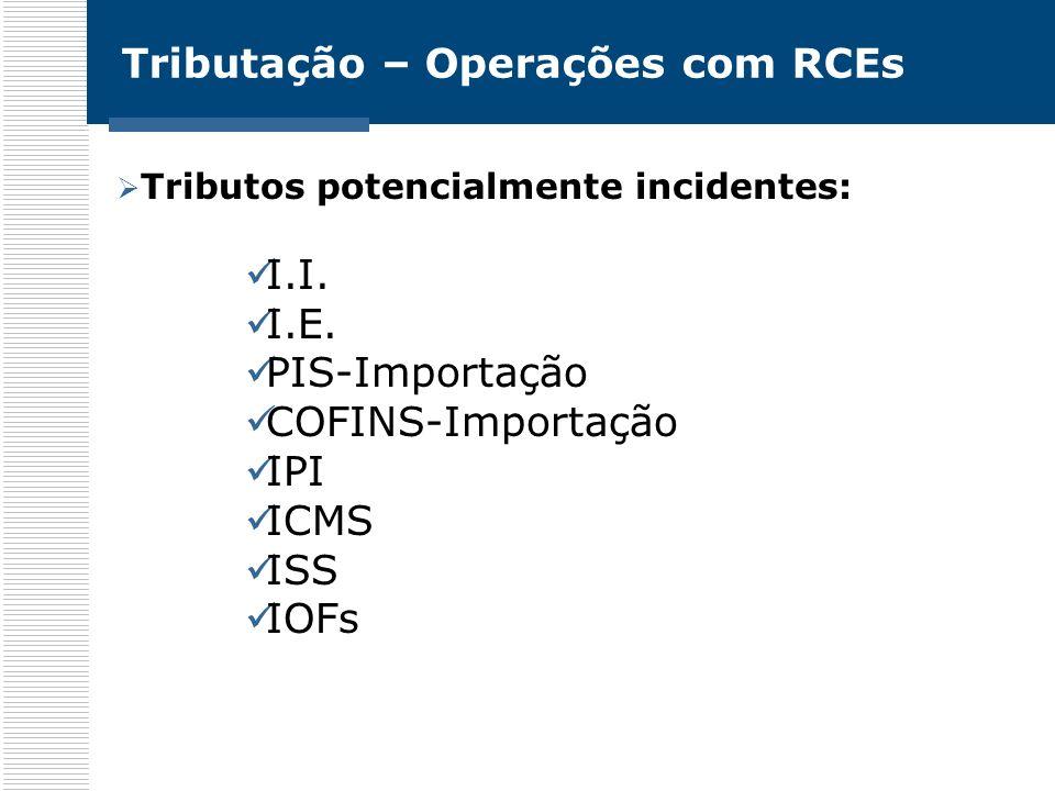 Tributação – Operações com RCEs