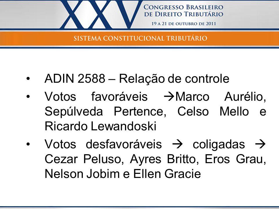 ADIN 2588 – Relação de controle