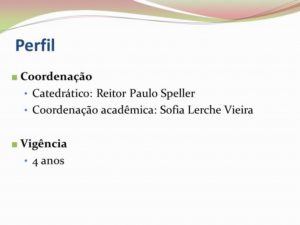 Perfil Coordenação Catedrático: Reitor Paulo Speller