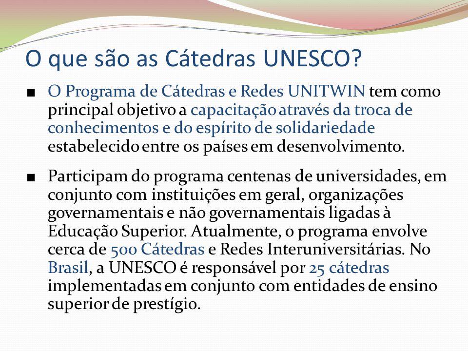 O que são as Cátedras UNESCO