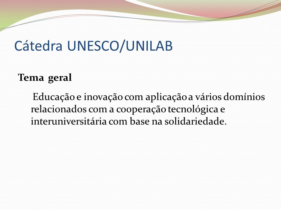 Cátedra UNESCO/UNILAB
