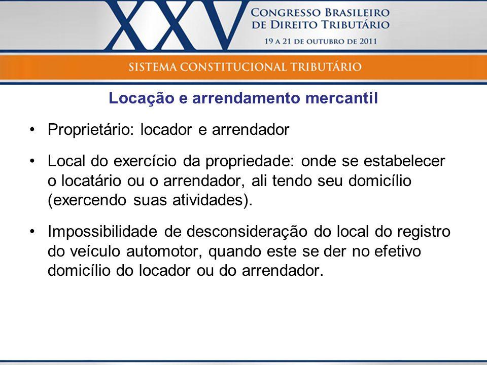 Locação e arrendamento mercantil