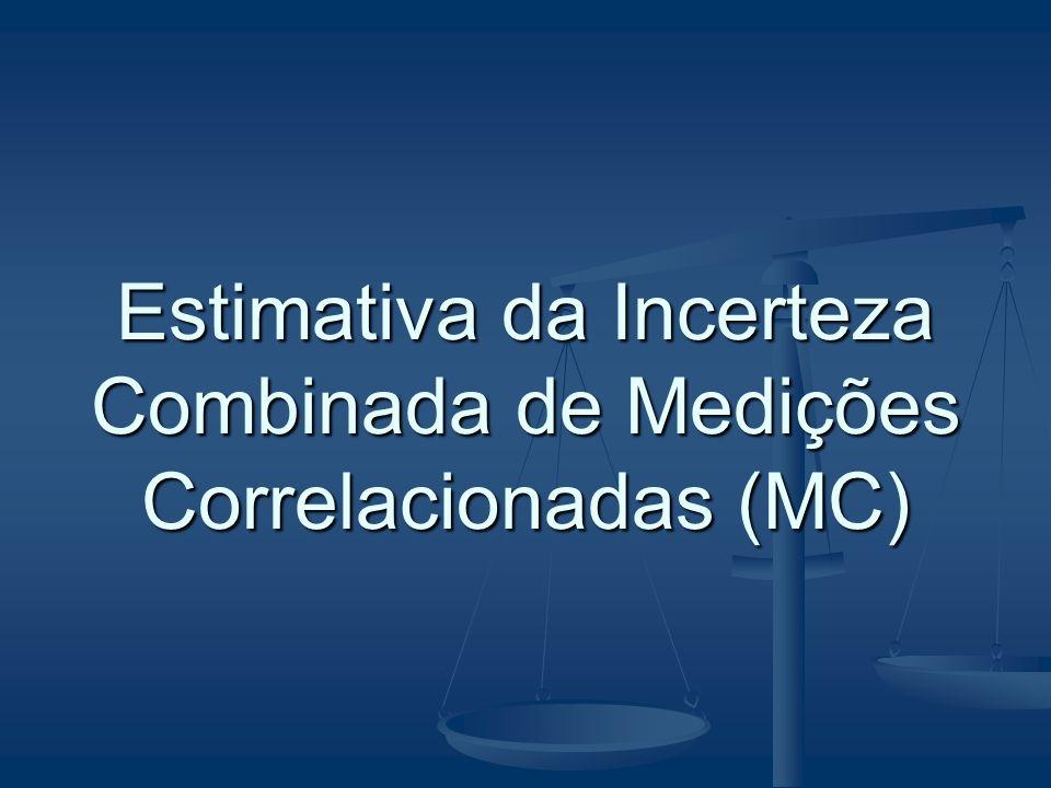 Estimativa da Incerteza Combinada de Medições Correlacionadas (MC)