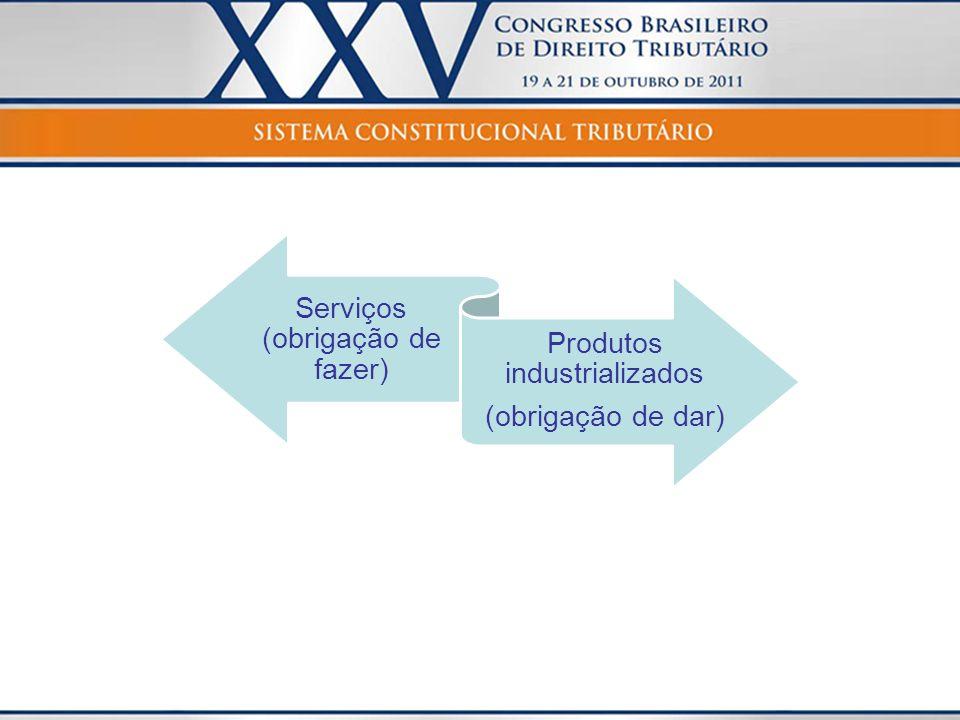 Serviços (obrigação de fazer) Produtos industrializados