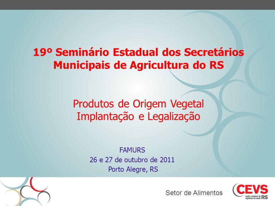 19º Seminário Estadual dos Secretários Municipais de Agricultura do RS