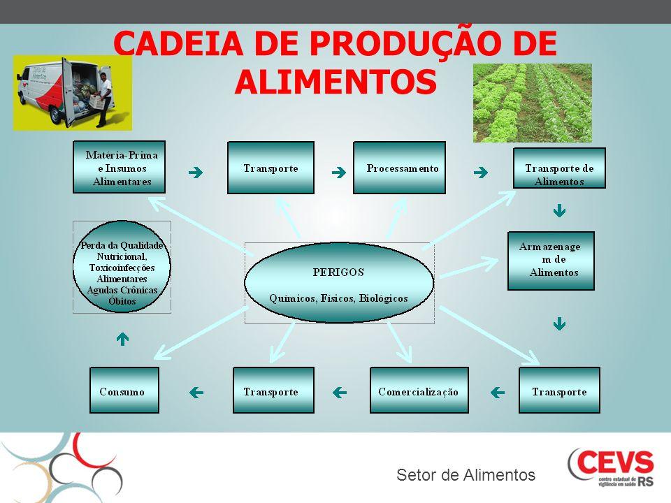 CADEIA DE PRODUÇÃO DE ALIMENTOS