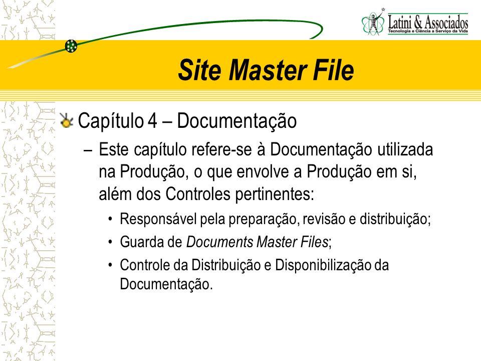 Site Master File Capítulo 4 – Documentação