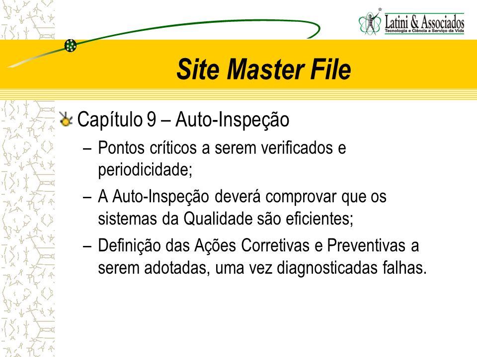 Site Master File Capítulo 9 – Auto-Inspeção