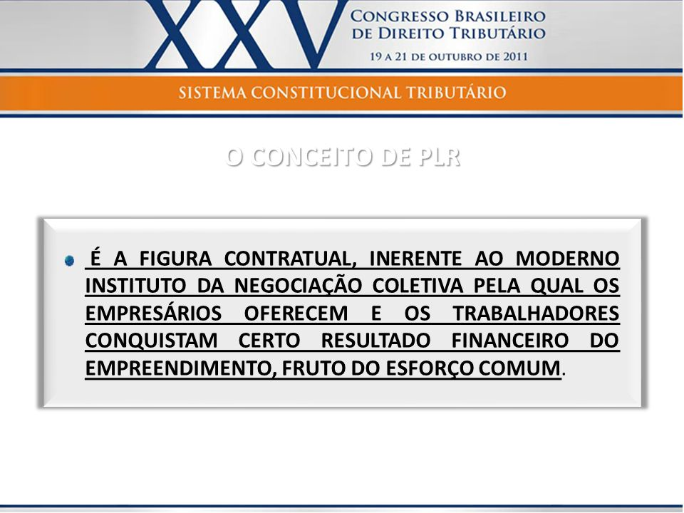 O CONCEITO DE PLR