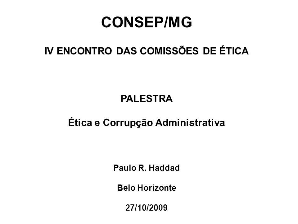 IV ENCONTRO DAS COMISSÕES DE ÉTICA