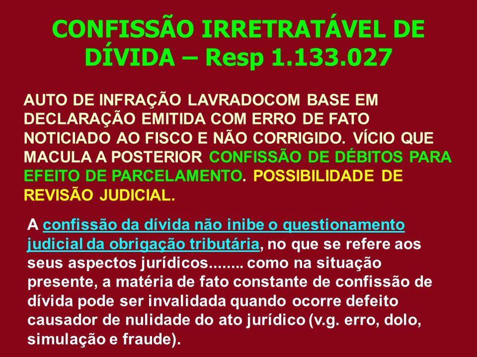 CONFISSÃO IRRETRATÁVEL DE DÍVIDA – Resp 1.133.027