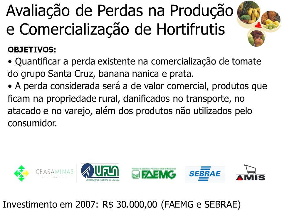Avaliação de Perdas na Produção e Comercialização de Hortifrutis